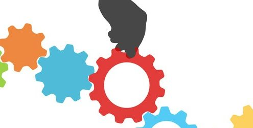 Cog and hand